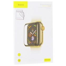 Стекло защитное Baseus 0.2mm Full-screen curved temperedglass (SGAPWA4-H01) для Apple Watch 5/4 series (44мм) черная рамка