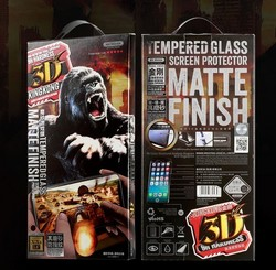 "Стекло защитное WK 3D (WTR-030) KING KONG матовое-полноэкранное 9H для iPhone 8 Plus/ 7 Plus (4.7"") 0.33mm Black"