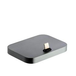 Док-станция для iPhone Lightning Dock универсальная для iPhone X/ 8 Plus/ 8/ 7 Plus/ 7/ 6/ SE универсальная Гафитовая