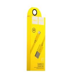 USB дата-кабель Hoco X5 Bamboo USB Type-C (1.0 м) Желтый