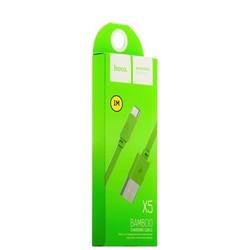 USB дата-кабель Hoco X5 Bamboo USB Type-C (1.0 м) Зеленый