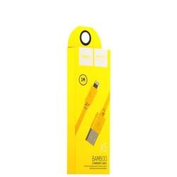 USB дата-кабель Hoco X5 Bamboo Lightning (1.0 м) Желтый