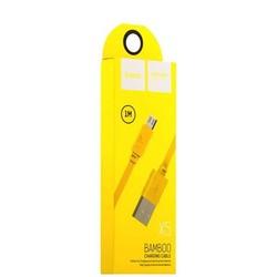 USB дата-кабель Hoco X5 Bamboo MicroUSB (1.0 м) Желтый