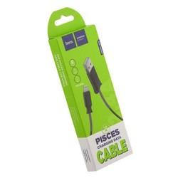 USB дата-кабель Hoco X24 Pisces Lightning (1.2 м) Черный