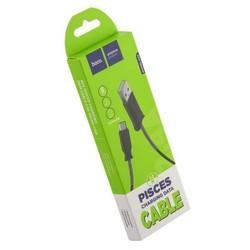 USB дата-кабель Hoco X24 Pisces MicroUSB (1.2 м) Черный