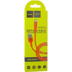 USB дата-кабель Hoco X26 Xpress charging data cable Lightning (1.0 м) Red