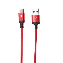 USB дата-кабель Hoco X14 Times speed Type-C (1.0 м) Красный
