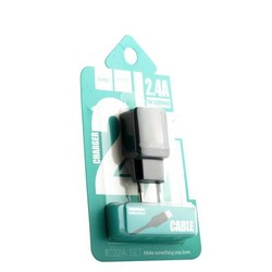 Адаптер питания Hoco C22A Little superior charger с кабелем Lightning (USB: 5V max 1A) Черный
