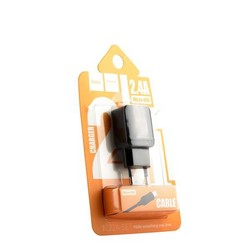 Адаптер питания Hoco C22A Little superior charger с кабелем microUSB (USB: 5V max 1A) Черный