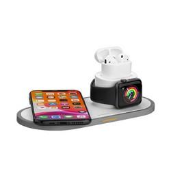 Беспроводное зарядное устройство Deppa 3в1 (D-24006) для Apple iPhone/ Watch (1-5ser)/ Air Pods 15W Белый