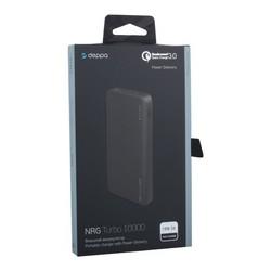 Аккумулятор внешний универсальный Deppa NRG Turbo 10000 mAh - 18W, QC3.0 D-33518 (USB: 5-6V/3A, 9V/2A) Черный