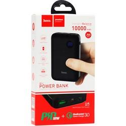 Аккумулятор внешний универсальный Hoco J44-10000 mAh PD+QC3 Mobile Power Bank (USB: 3.6-6.5V/3.0A) Black Черный