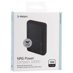 Аккумулятор внешний универсальный Deppa NRG 10000 mAh power bank D-33550 (2USB: 5V-2.1A) Графитовый