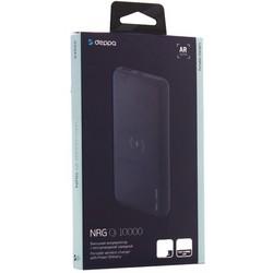 Аккумулятор внешний универсальный & беспроводное зарядное устройство Deppa NRG Qi 10000 mAh QC 3.0 18 W D-33552 Графит