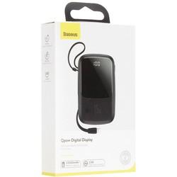Аккумулятор внешний универсальный Baseus Qpow 15W (2USB: 5V-3A & Type C: 5V-3A & IP cable: 5V-2.4A) (PPQD-B01) 10000 mAh Черный