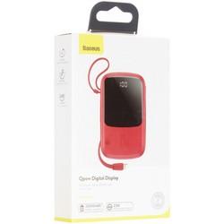Аккумулятор внешний универсальный Baseus Qpow 15W (2USB:5V-3A & Type C: 5V-3A & IP cable: 5V-2.4A) (PPQD-B09) 10000 mAh Красный
