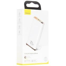 Аккумулятор внешний универсальный Baseus Starlight Digital Display 22.5W (2USB: 5V-3A & Type C: 5V-3A)(PPXC-02) 20000 mAh Белый