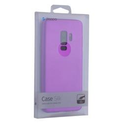 Чехол-накладка Deppa Case Silk TPU Soft touch D-89007 для Samsung GALAXY S9+ SM-G965F 1мм Фиолетовый металик