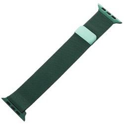 Ремешок из нержавеющей стали MAGNET Band для Apple Watch 44мм/ 42мм Темно-зеленый