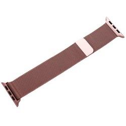 Ремешок из нержавеющей стали MAGNET Band для Apple Watch 44мм/ 42мм Розовый