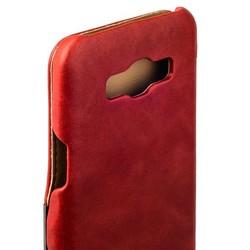 Чехол-книжка кожаный i-Carer для Samsung GALAXY A8 Vintage Series (RSA81001red) Красный