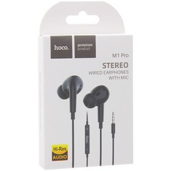 Наушники Hoco M1 Pro Original Series Earphone с пультом управления Черные