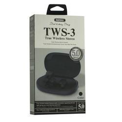 Bluetooth-гарнитура Remax TWS-3 True Wireless Stereo Headphones BT 5.0 стерео с зарядным устройством Черный