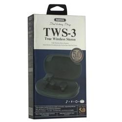 Bluetooth-гарнитура Remax TWS-3 True Wireless Stereo Headphones BT 5.0 стерео с зарядным устройством Зеленый