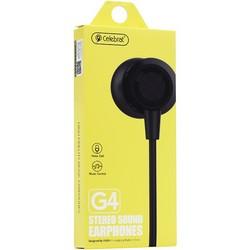 Наушники проводные Celebrat G4 стереогарнитуга с микрофоном (1.2 м) C-190029 Черный