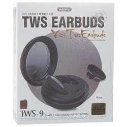 Bluetooth-гарнитура Remax TWS-9 Wireless Headset с зарядным устройством Черный