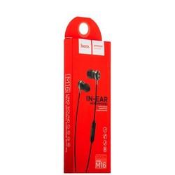 Наушники Hoco M16 Ling Sound Metal Universal Earphone with mic (1.2 м) с микрофоном Black Черные