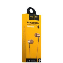 Наушники Hoco M10 Metal Universal Earphones with mic (1.2 м) с микрофоном Gold Золотые