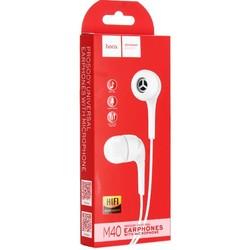 Наушники Hoco M40 Prosody universal earphones with mic (1.2 м) с микрофоном White Белые