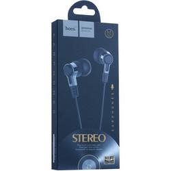 Наушники Hoco M52 Amazing rhyme universal wired Earphones with mic (1.2 м) с микрофоном Черные