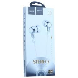 Наушники Hoco M52 Amazing rhyme universal wired Earphones with mic (1.2 м) с микрофоном Белые