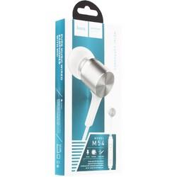 Наушники Hoco M54 Pure music wired Earphones with mic (1.2 м) с микрофоном Белые