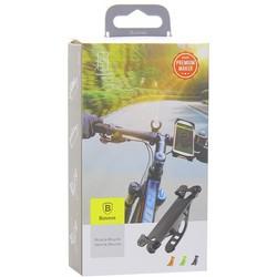 """Веломотодержатель Baseus Miracle Bicycle Vehicle Mounts (SUMIR-BY01)для смартфонов и GPS """"5.5"""" крепление на руль силикон Черный"""