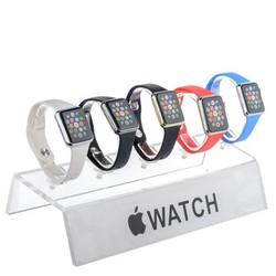 Подставка для Apple Watch (на 5 штук) 300х110х50:150мм, прозрачный пластик 5мм