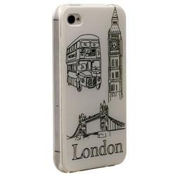 Чехол-накладка UV-print для iPhone 4S/ 4 силикон (города и страны) Лондон тип 24