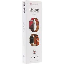 Ремешок кожаный COTEetCI W36 Fashoin Leather (WH5261-40-ACR) для Apple Watch 40мм/ 38мм (Long) Желтый-Красный