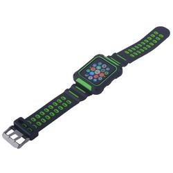 Ремешок COTEetCI W31 PC&Silicone Band Suit (WH5252-BG) для Apple Watch 42мм Черно-Зеленый