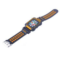 Ремешок COTEetCI W31 PC&Silicone Band Suit (WH5252-BO) для Apple Watch 42мм Черно-Оранжевый