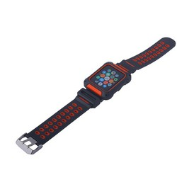 Ремешок COTEetCI W31 PC&Silicone Band Suit (WH5252-BR) для Apple Watch 42мм Черно-Красный