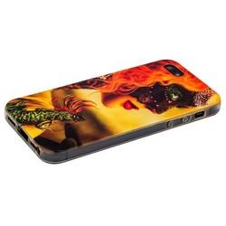 Чехол-накладка UV-print для iPhone SE/ 5S/ 5 силикон (арт) тип 30