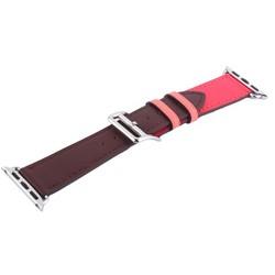 Ремешок кожаный COTEetCI W36 Fashoin Leather (WH5260-40-BRR) для Apple Watch 40мм/ 38мм (short) Коричневый-Розовый