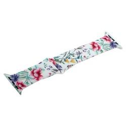 Ремешок силиконовый COTEetCI W38 Flowers (WH5266-BR) для Apple Watch 44мм/ 42мм White peony Белый пион