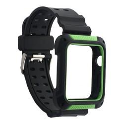 Ремешок COTEetCI W39 Integrated Movement Band (WH5268-BG) для Apple Watch 44мм/ 42мм 42мм Черно-Зеленый
