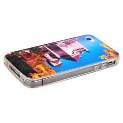 Чехол-накладка UV-print для iPhone 4S/ 4 силикон (города и страны) тип 008