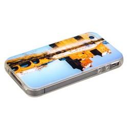 Чехол-накладка UV-print для iPhone 4S/ 4 силикон (города и страны) тип 009