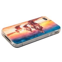 Чехол-накладка UV-print для iPhone 4S/ 4 силикон (кино и мультики) тип 12